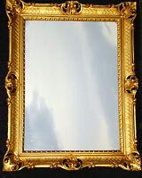 Espejo de Pared Grande Antiguo Baño Barroco Rectangular 90x70 Oro 2