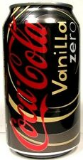 EMPTY UNOPEN 12oz 355ml American Genuine Coke Coca-Cola Vanilla Zero USA 2009