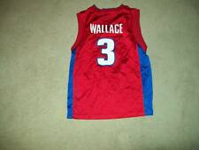 Detroit Pistons red #3 Wallace yth jersey sz M(10-12)