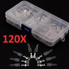 120x Kabelschuhe Flachstecker Steckverbinder Sortiment Quetschverbinder Sets