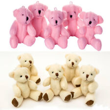 NEW - 5 X Pink & 5 X White Teddy Bears - Small Cute Cuddly Gift Present