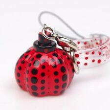 New Yayoi Kusama Pumpkin Charm Mobile Phone Strap RED Dots Obsession