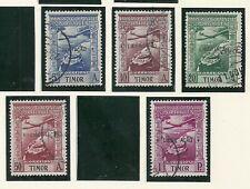 Timor 1948 - Airmail Portuguese Colonial Empire ovpt Libertação x 5 stamps used