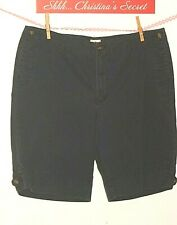 EDDIE BAUER Women's Comfy Shorts  Fashon Fit Blue Cotton Sz 16 * G+-VG