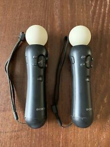 Sony PlayStation Move Motion Controller for PS4 VR PS3 CECH-ZCM1U Lot X2