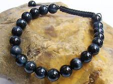 Natural Gemstone Uomo Braccialetto Shamballa tutti 8mm Blue Tiger eye Beads