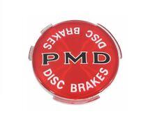 """USA-Made! 1970-72 GTO 2 7/16"""" Diameter PMD Disc Brake Wheel Cover Emblem, Red"""
