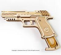 UGEARS Mechanical 3D Puzzle Wooden PISTOL GUN HANDGUN Wolf - 01 Unique Model