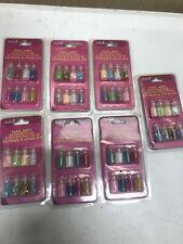 7 Donna Michelle Salon Basics Nail Art 8 Mini Bottles Packs Mini Balls ~ NEW