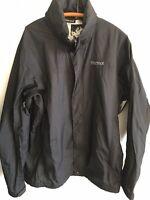 Marmot Black Hidden-Hood Full-Zip Rain Windbreaker Jacket Sz Men's XL