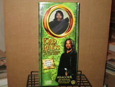 """2002 Lord Rings Fellowship Ring 12"""" Aragorn Fabric Outfit Action Figure & Box"""