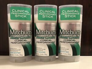 3 Mitchum Clinical Performance Smart Solid Unscented Antiperspirant & Deodorant