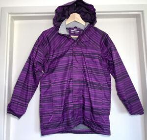 Girls KATHMANDU Purple Shell Jacket Hoodie Windbreaker 10 Years #18355
