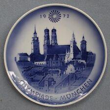 Royal Copenhagen 1972 Olympics Munich, Germany Collectors Plate