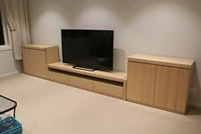 local made tassie oak hardwood timber Wahroonga 3pc TV/entertainment unit