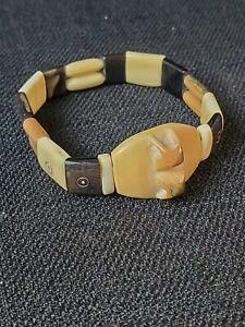 Vintage Alaskan Inuit Carved Expandable Bracelet