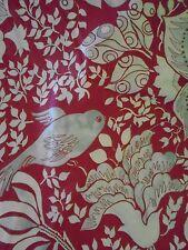 NEW POTTERY BARN LOUISE RED BLUE BIRD EURO PILLOW SHAM