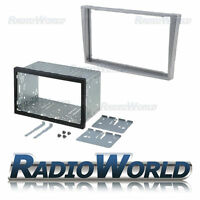 Vauxhall Astra H Silver Double Din Fascia Panel Adapter Plate Cage Fitting Kit