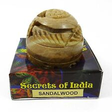 Natural Sandalwood Solid Perfume Body Musk In Stone Jar - 8 gm