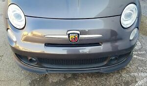 2007-2016 Fiat 500 Abarth Euro Style 2pc Front Lip Spoilers (UNPAINTED)