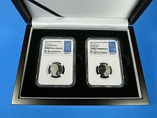 2020 First W Jefferson Nickels 2-Coin Set NGC Pf/Rev. Pf 70 Donna Weaver Signed