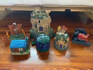 Huge 2001 Mattel Harry Potter Polly Pocket Lot (Hogwarts, Quidditch, Burrows)