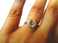 14k solid gold JTC35 Zales ladies channel set .25ct diamond horseshoe ring sz 6