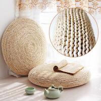 1/2/4x Round Straw Tatami Pouf Pillow Floor Mat Meditation Yoga Seat Cushion Pad