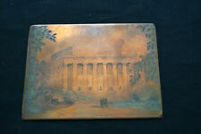 Antique Hand Engraved Copper Printing Plate Lincoln Memorial 19th C Picture