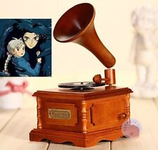 WOOD PHONOGRAPH WIND UP MUSIC BOX : Merry Go Round of Life