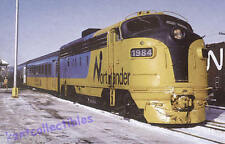 Ontario Northland FP7M #1984 passenger diesel locomotive railroad train postcard