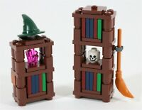 LEGO HARRY POTTER HOGWARTS WIZARD BOOKCASE BUILD & BROOM - MADE OF GENUINE LEGO