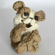 VTG Hindt PANDA BEAR Art Pottery California Sculpture Clay Figurine Primitive US