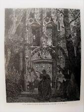 86-7-90 Gravure sur bois 1863 Don Quichotte de Gustave Doré par Pisan