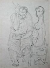 Frederic Taubes Pygmalion Pencil Drawing