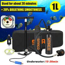 SMACO Mini Scuba Diving Respirator 1L Oxygen Cylinder Air Tank Underwater Kit
