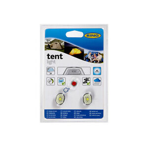 RTL010 RING 2 LED tent light (2 RING LED TENT LIGHTS) RING TORCHES NEW