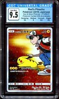 CGC 9.5 Red's Pikachu 20th Anniversary 270/SM-P Japanese Promo Pokemon PSA BGS