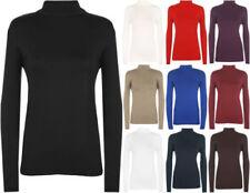 Camisas y tops de mujer de manga larga polos de viscosa/rayón