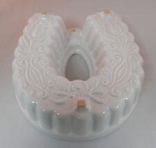 PV01533 Scheurich Keramik W. Germany Ceramic Mold #959-17 HORSESHOE in White