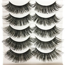 NEW 10 Pics Natural Long Fake Eye Lashes Handmade Thick False Eyelashes Black