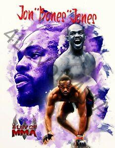 Jon Bones Jones 4LUVofMMA Poster new MMA Wall Art