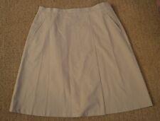 Lafayette 148 Cotton Stretch Khaki Skirt size 16 A line Side Slit Pockets