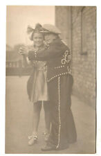 Pearly King / Boy - Real Photo Postcard 1938