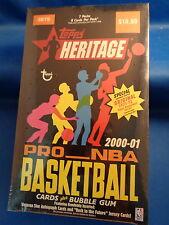 2000-01 TOPPS BASKETBALL - HERITAGE RETAIL BOX (7) PACKS - SEALED ! LQQK !
