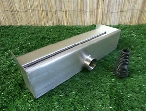600mm Stainless Steel Waterfall WATER BLADE Cascade Koi Fish Pond  BACK INLET