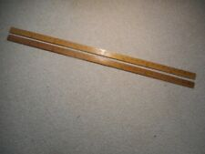 A PAIR OF WOODEN WESTCOTT FABRIC MEASURE YARDSTICKS, NICE  CONDITION