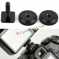 Metal Pro 1/4 inch Dual Nuts Tripod Mount Screw To Flash Camera Hot Shoe Adapter