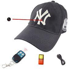 HD 1080P Spy Hidden Camera Hat Covert Digital Video Recorder Wireless DVR Cam 8G