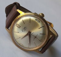 Vintage ELGE Gold Plated Handwinding JeambrunPS31 French Made Wristwatch From60s